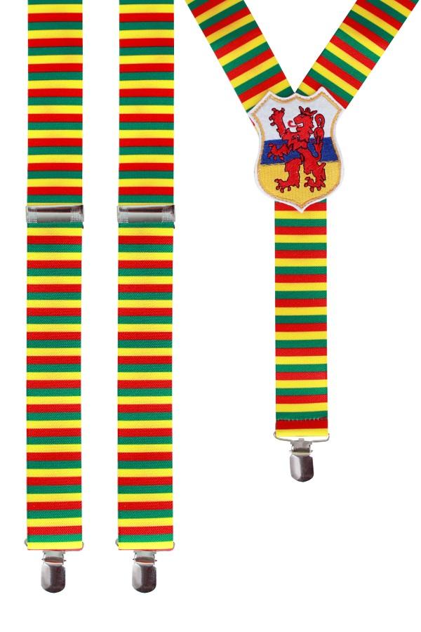 Bretels rood/geel/groen met wapen Limburg 1