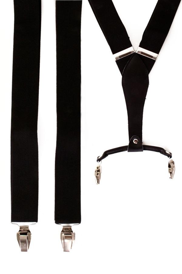 Bretel zwart met leder 1