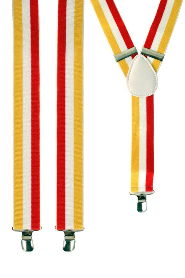 Bretel rood/wit/geel 1