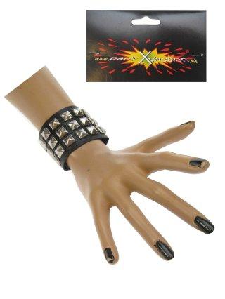 Punk armband 3 rijen nagels 1