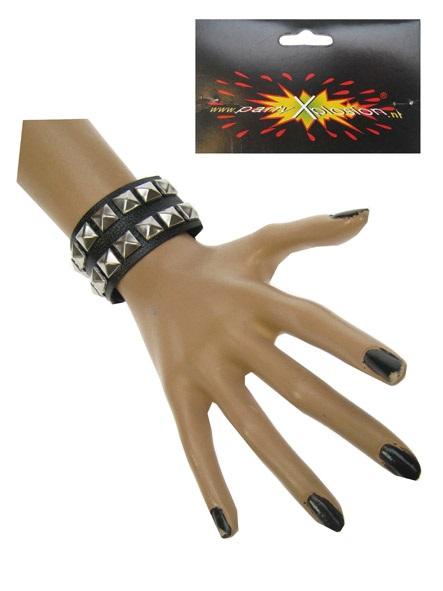 Punk armband 2 rijen nagels 1