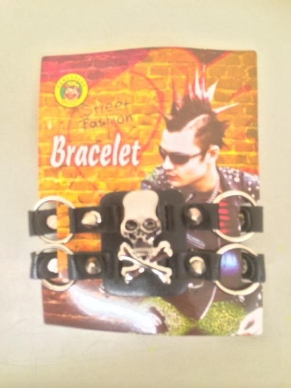 Punk armband met ringen luxe 1
