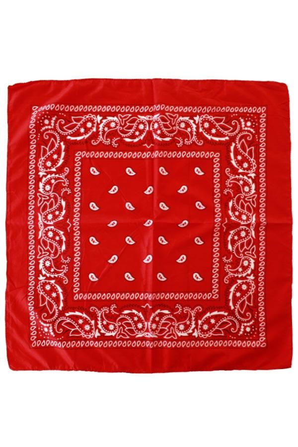 Boerenzakdoek populair rood met motief 53x53cm 1