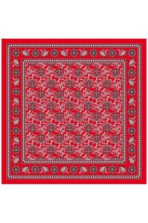 Boerenzakdoek rood 63x63 cm waaier motief