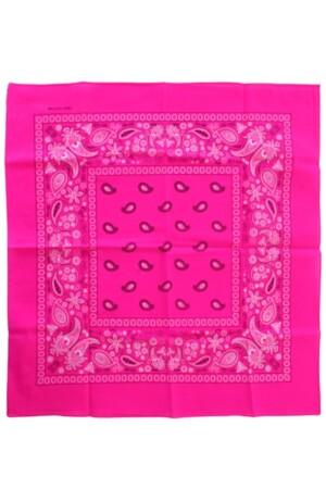 Bandana Fluor roze 53 x 53 cm.
