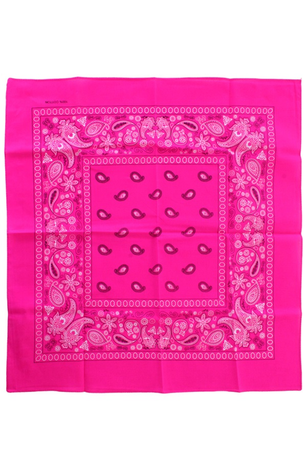 Bandana Fluor roze 53 x 53 cm