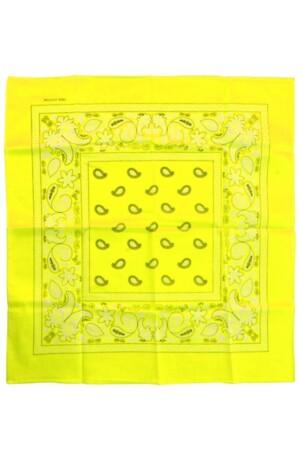 Bandana Fluor geel 53 x 53 cm.