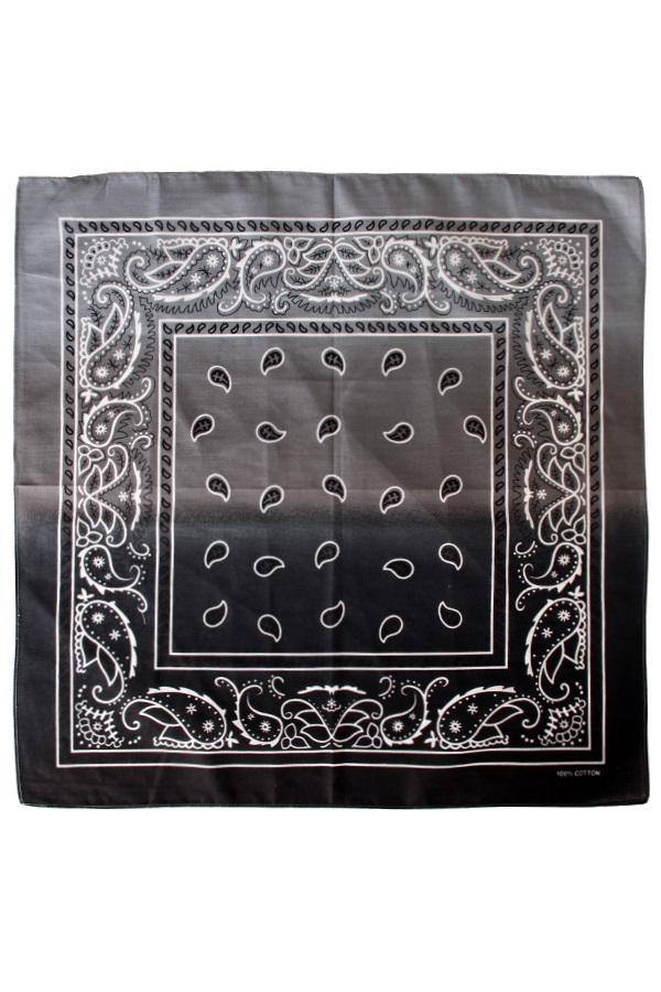 Zakdoek met kleurverloop zwart/wit 56 x 56 cm 1