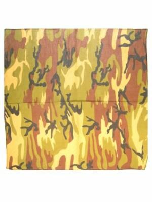 Bandana camouflage groen 59 x 59 cm