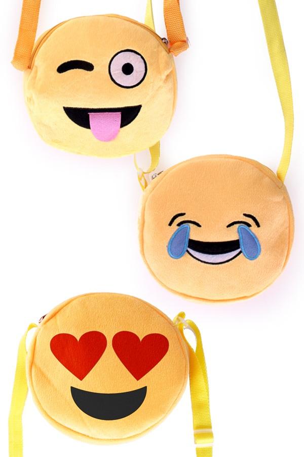 Tasje emoticons 3 assortie 1