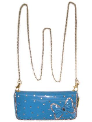 Knip skai blauw 20 x 10 cm