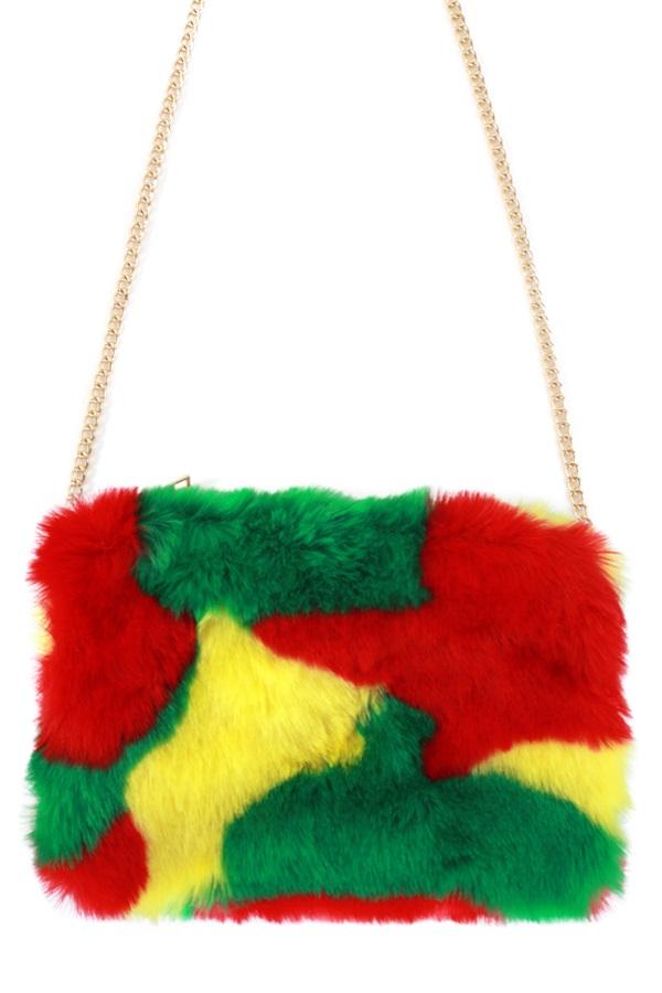 Tas camouflage rood/geel/groen 1