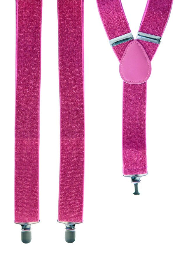 Bretel roze met glitter 1