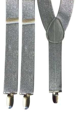 Bretel lurex zilver