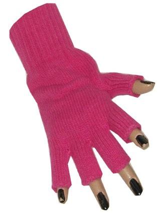Vingerloze handschoen fuchsia 1