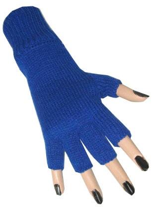 Vingerloze handschoen blauw 1