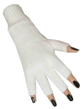 Vingerloze handschoen wit 1