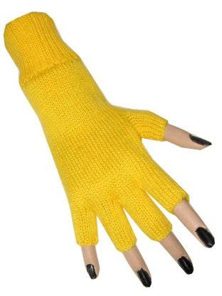 Vingerloze handschoen geel 1