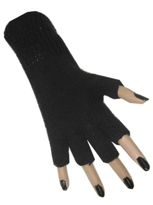 Vingerloze handschoen zwart 1