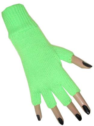 Vingerloze handschoen fluor groen 1