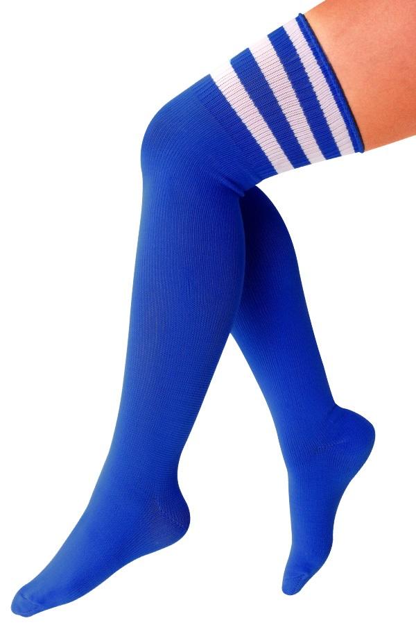 Lieskousen kobalt blauw / 3 witte strepen 1