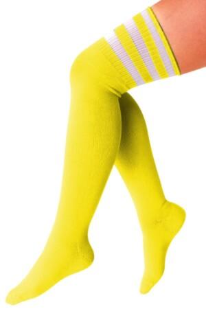 Lieskousen geel / 3 witte strepen