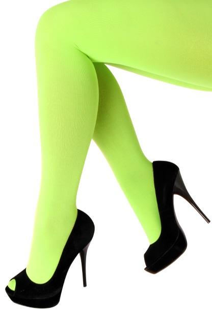 Panty 60 den microfiber fluor groen one size 1