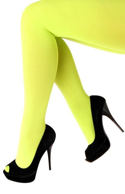 Panty 60 den microfiber fluor geel one size 1