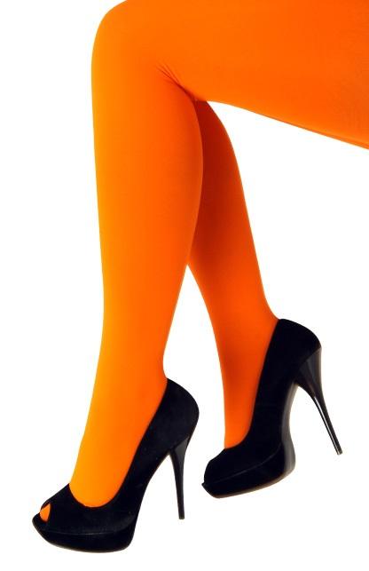 Panty 60 den microfiber fluor oranje one size 1