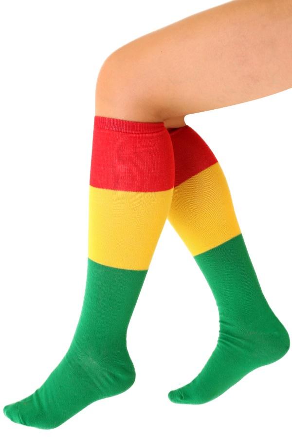 Sokken rood/geel/groen  1