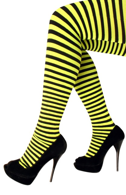 Panty streep geel/zwart one size 1