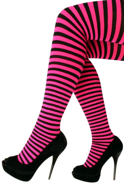 Panty streep roze/zwart one size 1