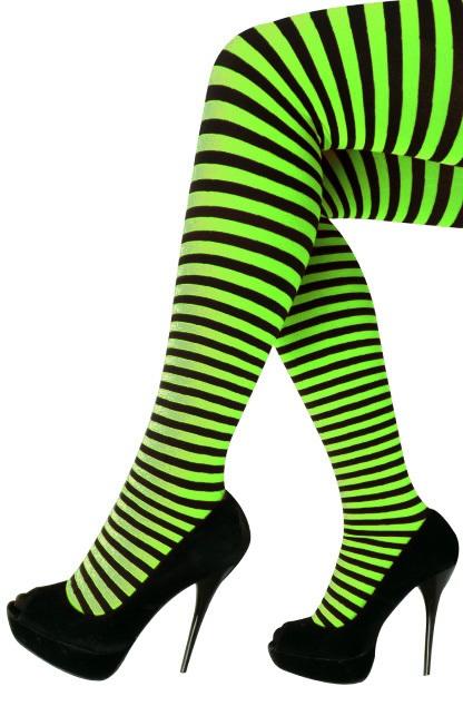 Panty streep groen/zwart one size 1