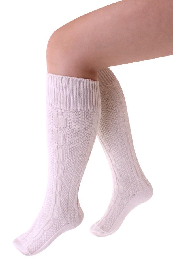 Tiroler sokken kort deluxe ecru  1
