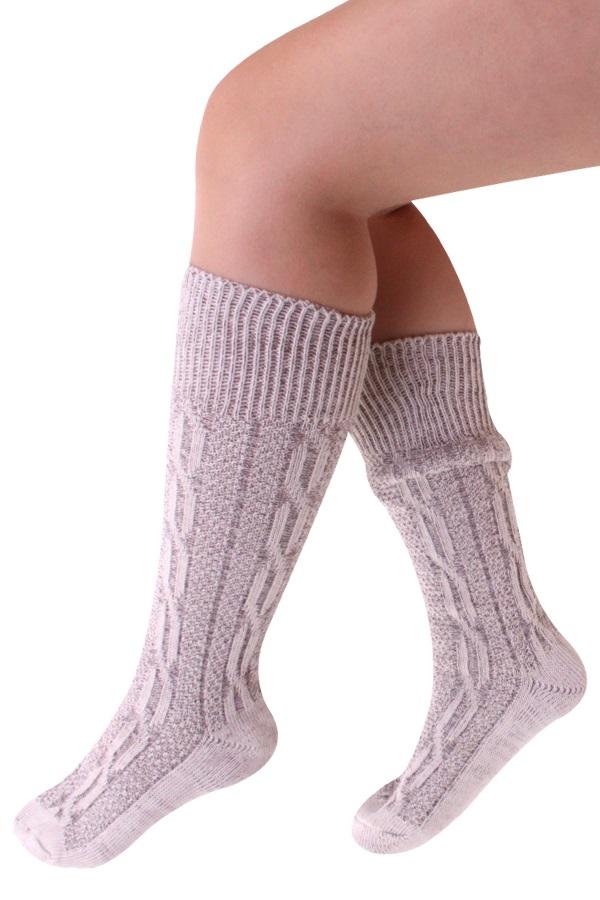 Tiroler sokken kort deluxe grijs  1