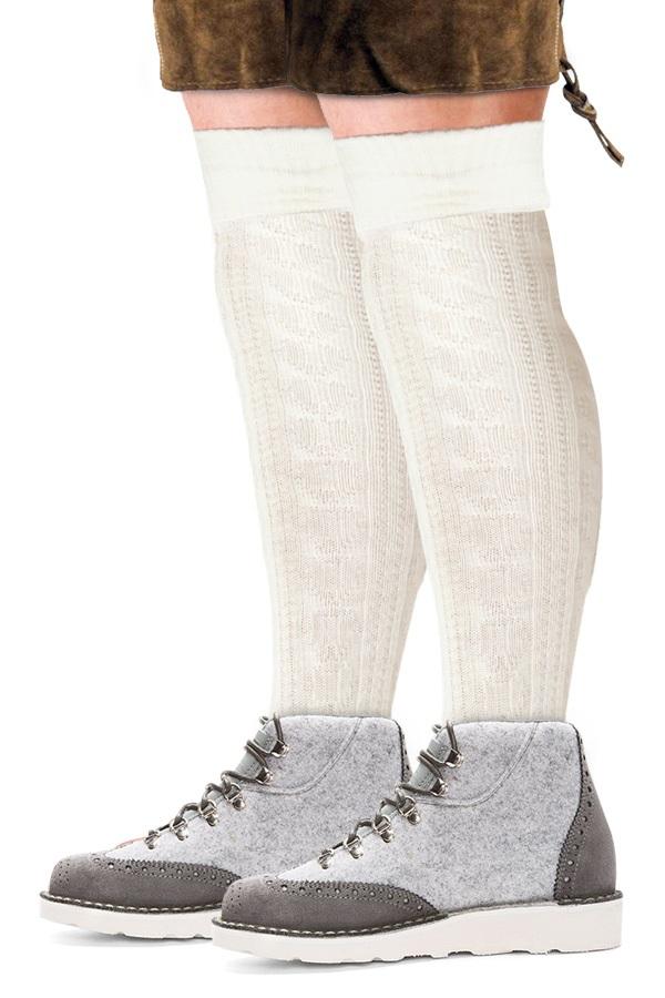 Tiroler sokken wit  1