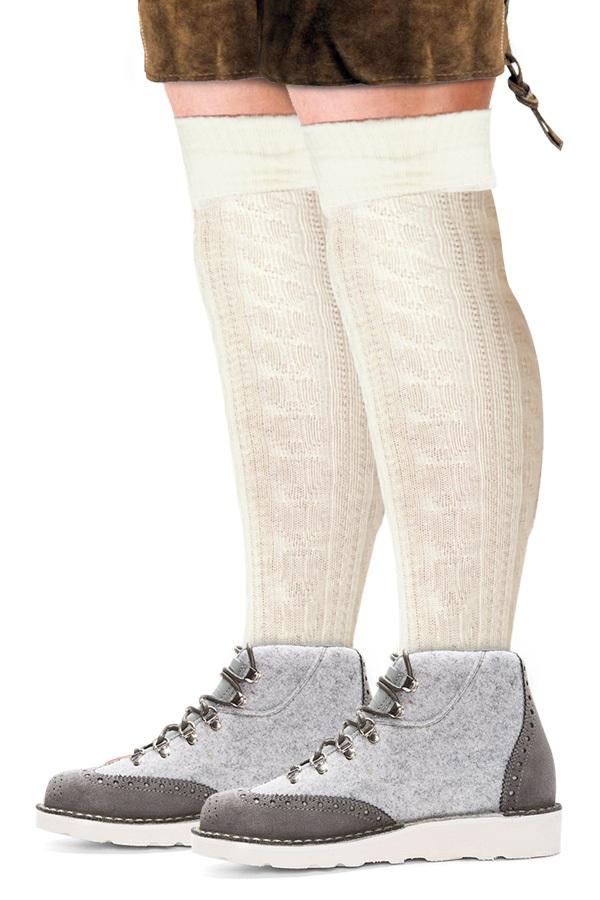 Tiroler sokken ecru  1