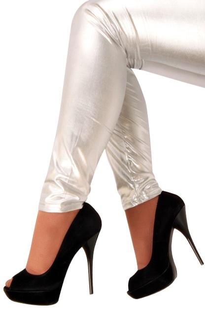 Legging metallic zilver 1