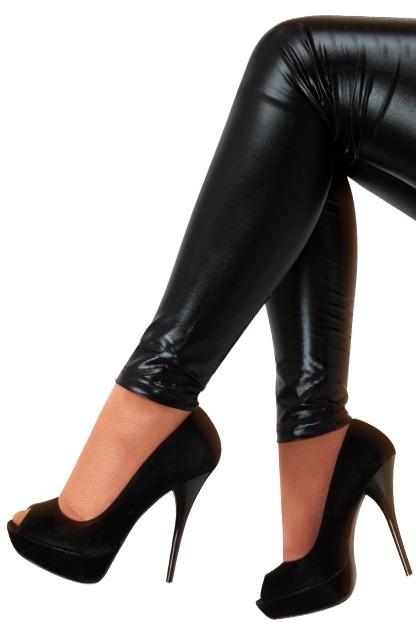 Legging metallic zwart 1