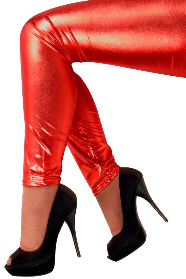 Legging metallic rood 1