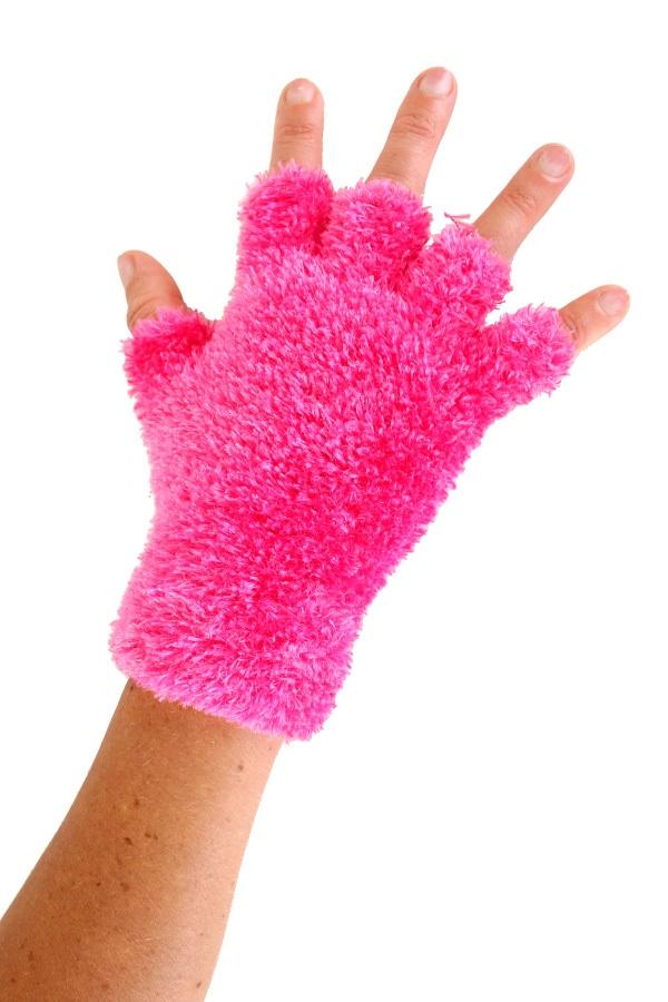 Softy vingerloze handschoenen roze 1