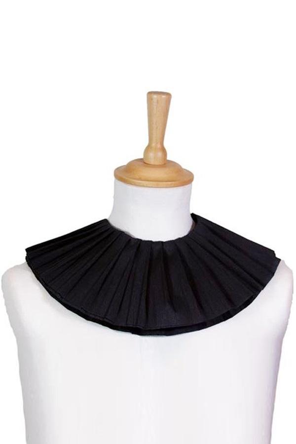 Kraag crêpe-papier zwart (2-laags) 1