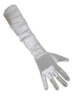 Handschoenen satijn wit 48 cm 1