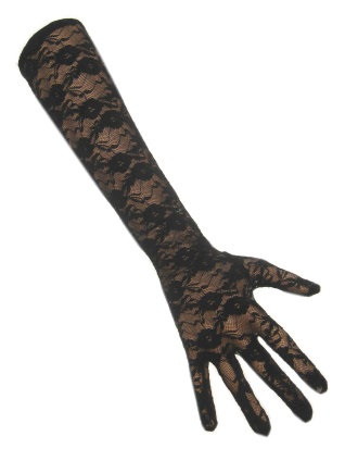 Handschoen kant lang zwart 1