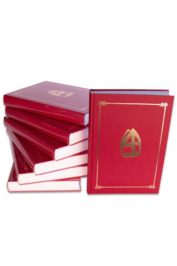 Sinterklaas boek mijter met 350 pagina's