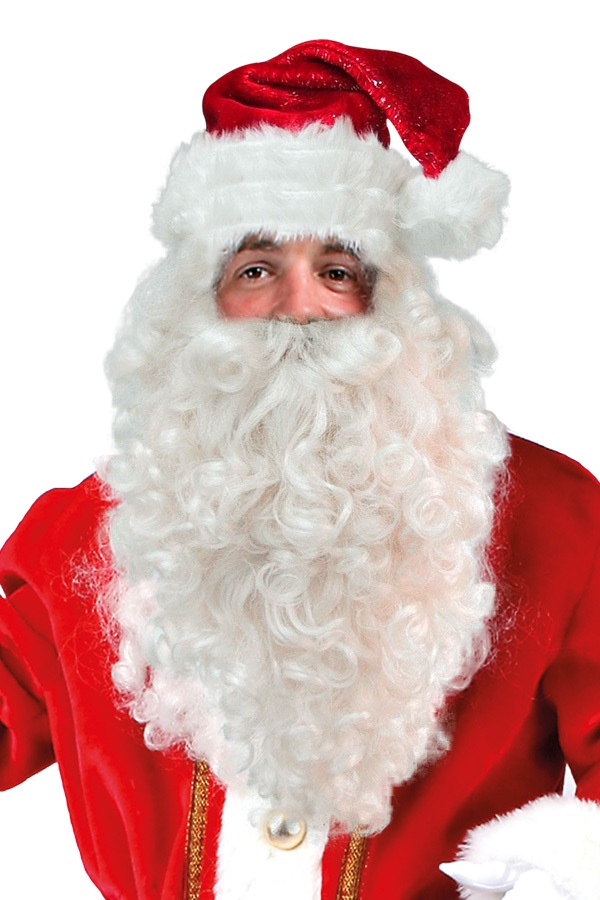Kerstman pruik met baard 1