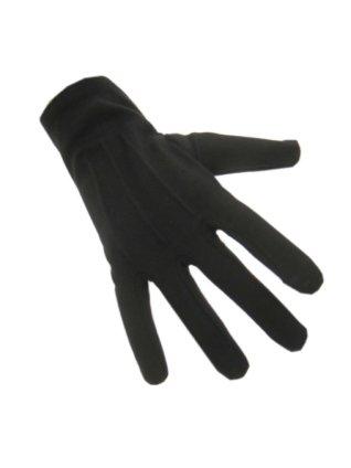 Handschoenen katoen kort zwart luxe (Piet) 1