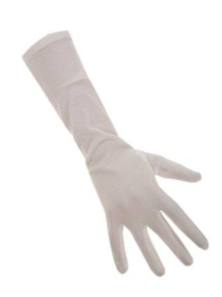 Handschoenen stretch wit luxe nylon 40 cm