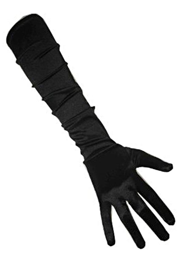 Handschoenen satijn stretch zwart luxe one size 1