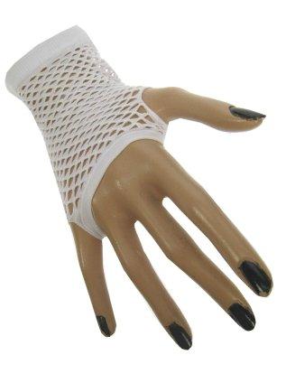 Nethandschoen kort vingerloos wit 1